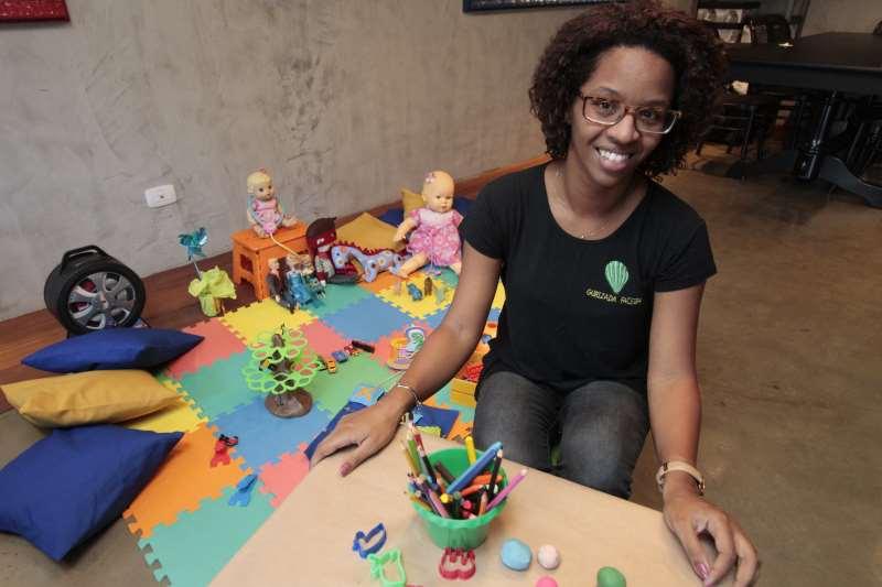 Entrevista com Luciane Brito, criadora do Gurizada Faceira, empresa que cria espaços infantis em eventos.     na foto: Luciane Brito