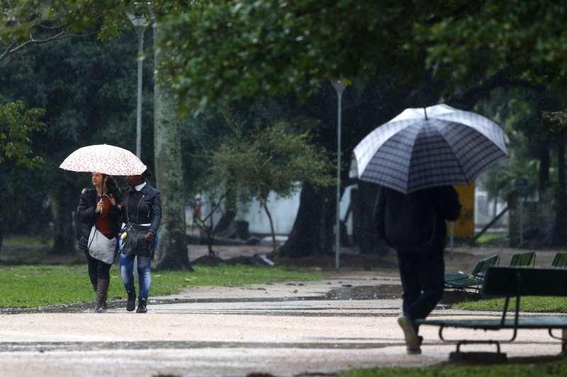 Chuva causa alagamento em diferentes pontos de Porto Alegre. Na foto: Parque da Redenção