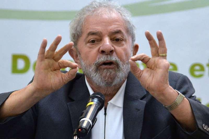 (FILES) This file photo taken on April 25, 2016 shows Brazilian former president Luiz Inacio Lula da Silva taking part in the seminar