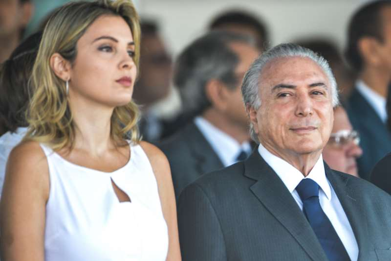 O presidente e a primeira-dama Marcela Temer participaram de evento em homenagem ao Dia da Mulher