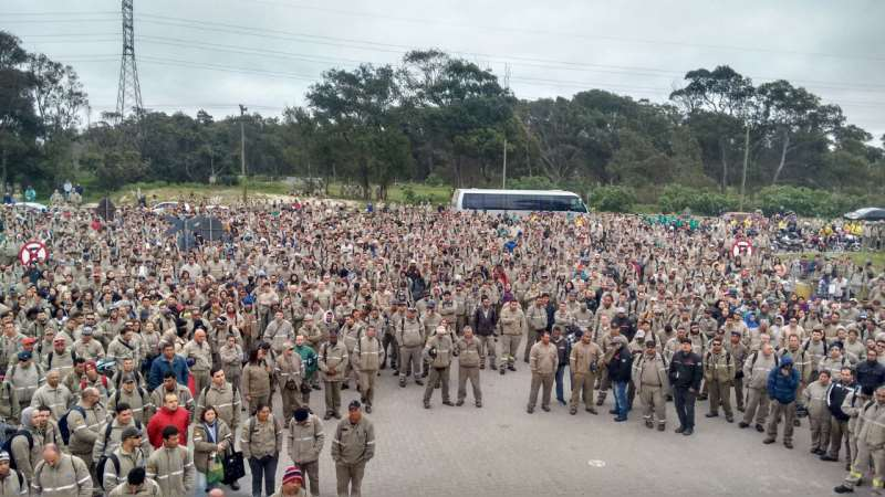 Em dezembro, 3,2 mil trabalhadores da Ecovix foram demitidos no Polo Naval