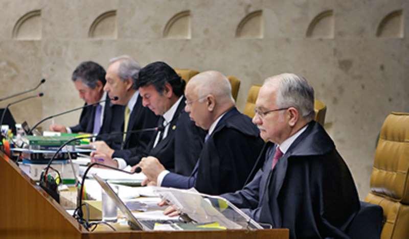Ministros do STF durante sessão plenária para decidir prisão em segunda instância. Foto Fellipe Sampaio SCO STF (05102016)
