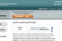 Falha no site do Sisu permite acessar inscrições de outros candidatos