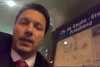Internautas reagem a vídeo de Marchezan em parada que carrega celular em Paris