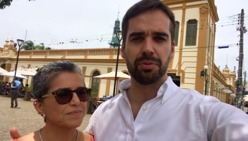 Leite fez um live pelo Facebook para anunciar o nome de Beatriz Araújo para a Cultura