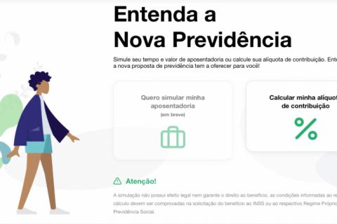 Governo lança simulador da nova alíquota proposta na reforma da Previdência