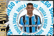 Grêmio anuncia de forma oficial contratação de Diego Souza