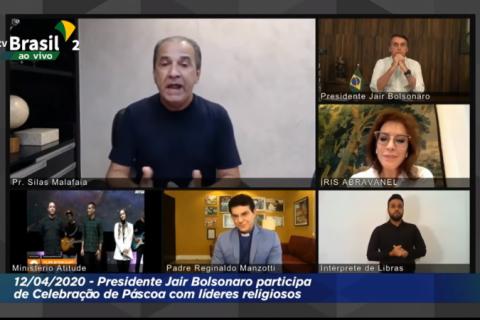 Live de Bolsonaro com Malafaia, Feliciano e Iris Abravanel é contestada na Justiça