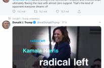 Em tom de campanha, Trump diz que Kamala é 'adversária que todo mundo sonha'