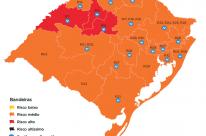 Após duas semanas, mapa do RS volta a ter regiões em bandeira vermelha