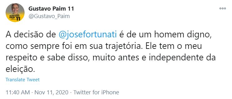TWITTER/REPRODUÇÃO/JC