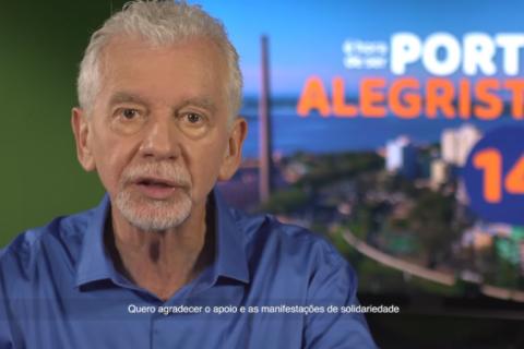 Em vídeo nas redes sociais, Fortunati pede votos de seus eleitores para Melo