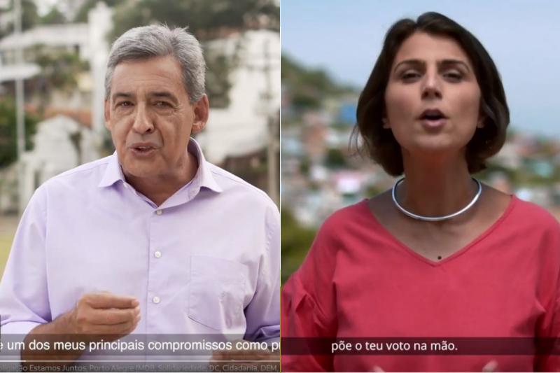 Melo e Manuela destacaram pontos de seus planos de governo e também partiram para o ataque