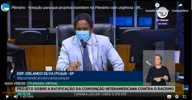A votação foi sugerida pelo deputado Orlando Silva (PCdoB-SP) que preside a sessão nesta tarde