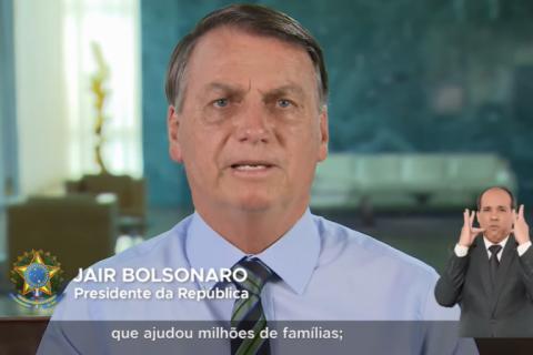 Bolsonaro diz em pronunciamento que Brasil é referência no combate à Covid