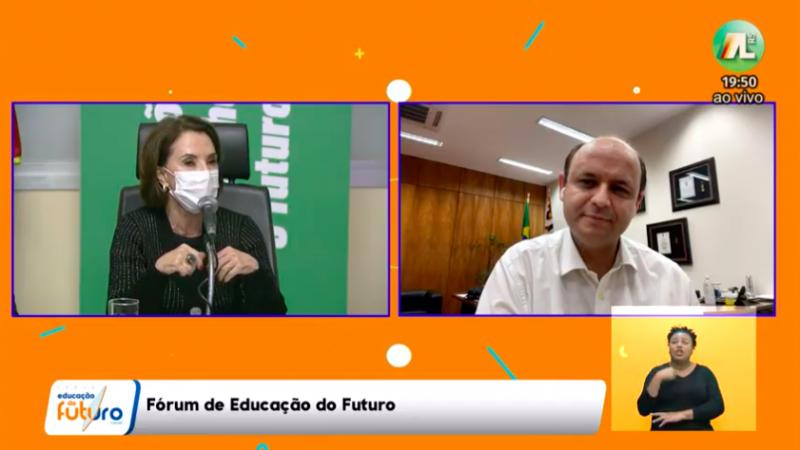 Rossieli e Raquel, que já trabalharam juntos na educação do Brasil, dividiram opiniões sobre o futuro da educação